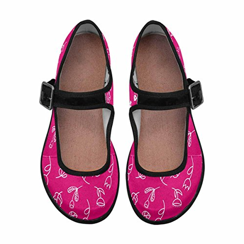 InterestPrint Womens Comfort Mary Jane Flats Casual Walking Shoes Multi 5 oYl6Qy
