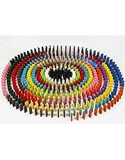 مجموعة ألعاب دومينو دافا 100 قطعة 12 لون من الخشب ألعاب سباق للأطفال مكعبات LYSB01I55T4YO-TOYS