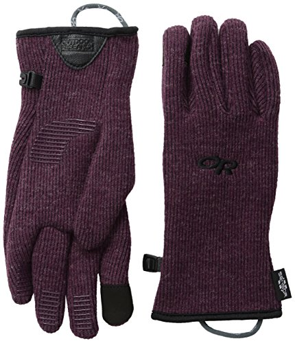 Outdoor Research Women's Flurry Sensor Gloves, Pinot, Large - Edge Pinot