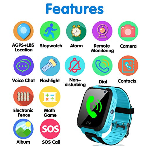94799c87accea2 ... SIM Card Included Kids Smart Watch with GPS Tracker- 1.44