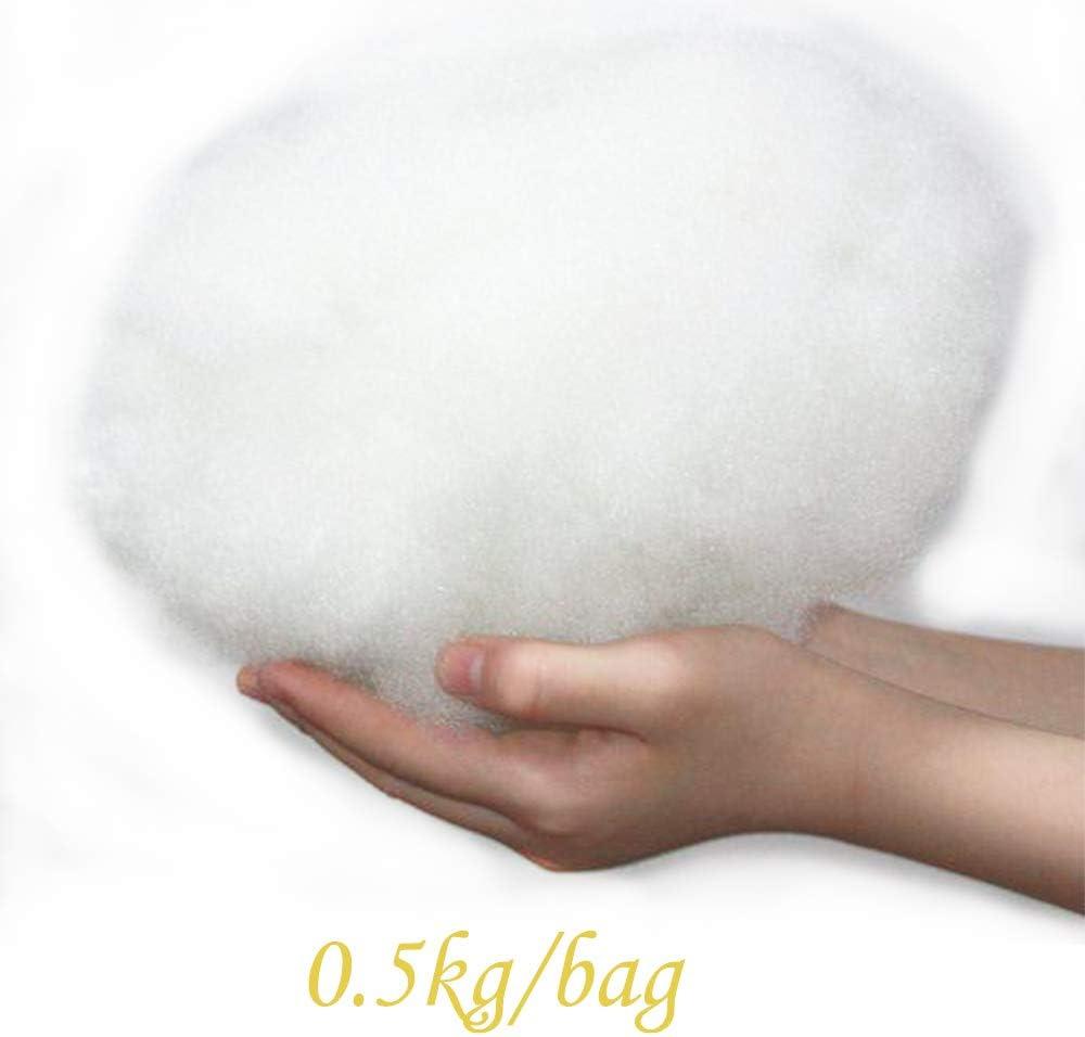 relleno de algod/ón s/úper suave 0.5 kg//bolsa juguetes NiDream 64 Relleno de poli/éster de fibra hueca 7D de seda larga mu/ñecas y decoraci/ón. ideal para relleno de almohadas