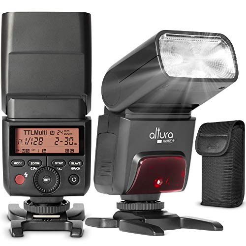 Camera Flash for Nikon by Altura Photo – AP-305N 2.4GHz I-TTL Speedlite for DSLR and Mirrorless