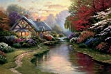Loving Pop Printed Thomas Kinkade Landscape Oil Painting On Canvas Wall Art Prints Picture For Home Decorations 40X60Cm Scenery 655665