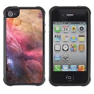 Híbridos estuche rígido plástico de protección con soporte para el Apple iPhone 4 / 4S - space nebulae sky majestic universe stars