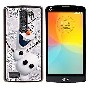 LECELL--Funda protectora / Cubierta / Piel For LG L Bello L Prime -- Navidad Invierno Infantil es feliz --