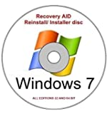 Windows 7 All Editions 32 And 64 Bit Re-Install, Recovery Bootable DVD