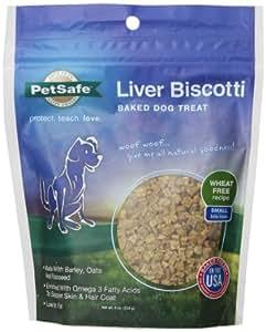 Petsafe Liver Biscotti Dog Treats, Dog Treats,Wheat/Egg Free Recipe, Small Bite Size, 8-Ounce Bag