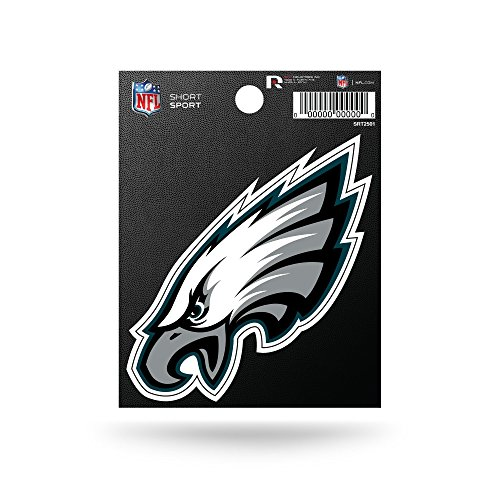Rico Industries NFL Philadelphia Eagles Die Cut Team Logo Short Sport Sticker