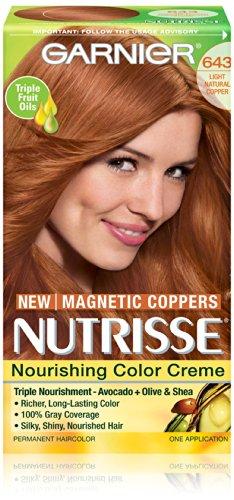 Garnier Nutrisse Nourrissant Cheveux couleur crème, 643 Copper Lumière Naturelle