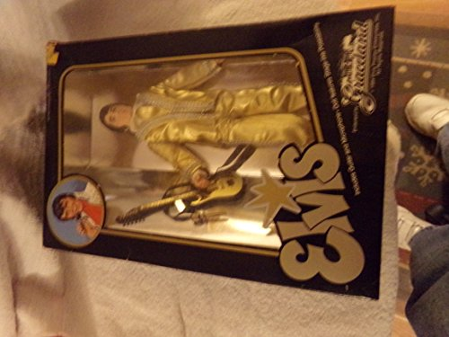 Elvis Presley Eugene Doll Gold Lame Suite with Guitar and Microphone Stage-like Poseable