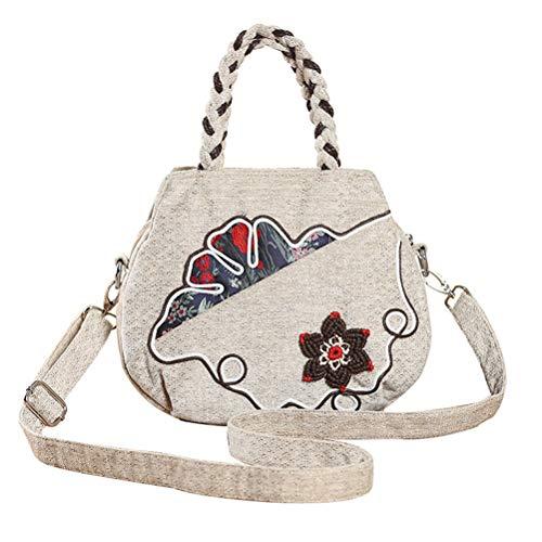 donne Women Flowers Handbag Folrals Canvas Handmade Vhvcx Crossbody National per donna Retro Ladies Owq0tWEAx