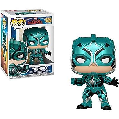 Funko Star Commander: Captain Marvel x POP! Marvel Vinyl Figure & 1 POP! Compatible PET Plastic Graphical Protector Bundle [#429 / 36352 - B]: Toys & Games