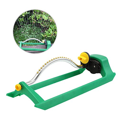 Automatic Oscillating Sprinkler Nozzle with 16-Hole Plastic Nozzle for Lawn Patio Garden Watering (1)