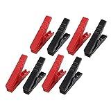 eDealMax 4 coppie Clip emergenza Alligator Pinze Booster batteria per auto Vai Starter Rosso Nero