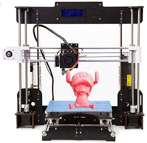 Best 3D Printer, CTC A8 3D Printer Pro DIY LCD Screen Desktop 3D Printer Kit with Shockproof Aviation Wood Frame, Free 1.75mm ABS/PLA Printer Filament (Build Size 220×220×240mm)