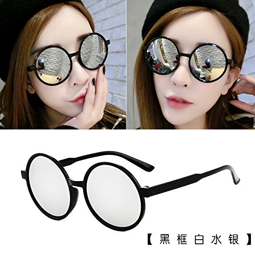 les lunettes de soleil les lunettes de soleil les lunettes de soleil star des lunettes nouveaux visages lélégance la personnalité la corée du sud boîte noire white mercure (tissu)