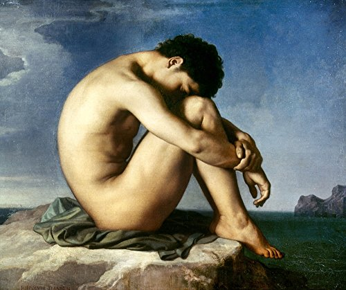 Flandrin Nude Youth 1837 Nnude Youth By The Seaside Oil On Canvas By Jean Hippolyte Flandrin 1837 Poster Print by (18 x 24)