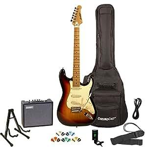 sawtooth st es sbvc kit 3 sunburst electric guitar with vintage white pickguard. Black Bedroom Furniture Sets. Home Design Ideas