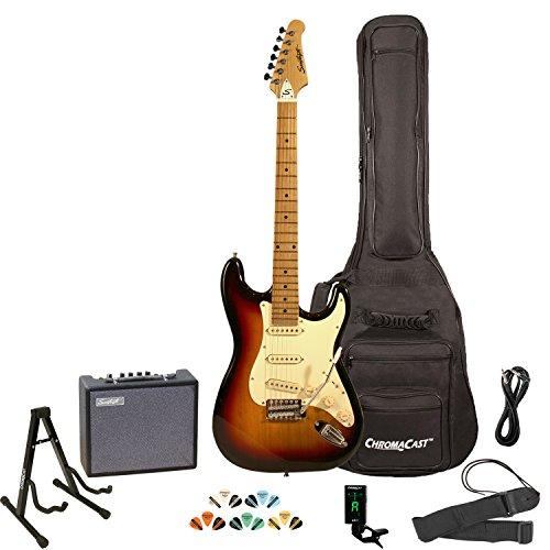 Sawtooth Sunburst Electric Guitar