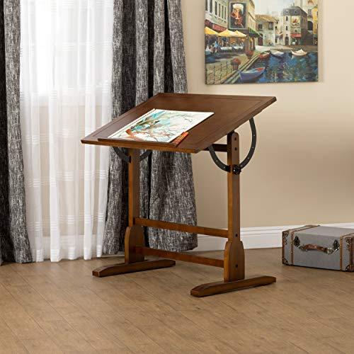 Studio Designs 36 X 24-Inch Vintage Drafting Table, Rustic (Oak Designs Furniture)