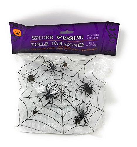 Halloween Party Decorations 7 piece Bundle Spider Web Caution Tape Pumpkin Carving Kit Window Door Skeleton -