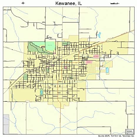 Kewanee Illinois Map.Amazon Com Large Street Road Map Of Kewanee Illinois Il