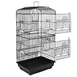 ZENY 59.3'' Bird Cage with Rolling Stand Wrought