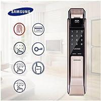 Samsung SHS-P718LBG Digital Door Lock Fingerprint Push Pull Two Way Latch Mortise ENGLISH VERSION GOLD COLOR (SHS-P718LBG/EN)