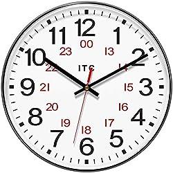 INFINITY/ITC 90/1224-1 Combination 12/24 Hour Clock, 12 Diameter