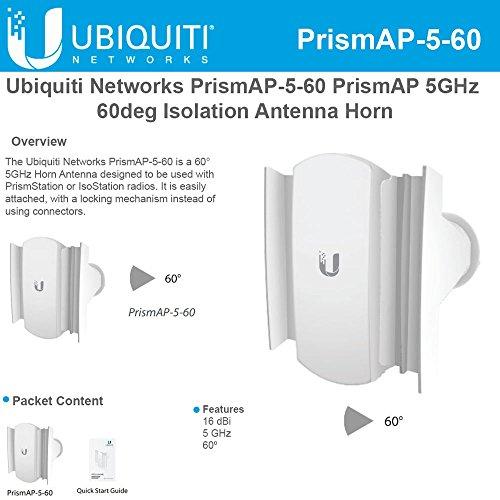 Prism Horn5 60 AP-5-60 PrismAP 5GHz 60deg Isolation Antenna Horn by Ubiqui Network
