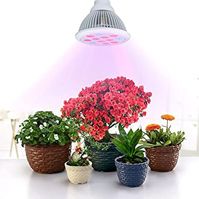VicTsing® 36W Full Spectrum LED Grow Light Bulb for Garden Greenhouse and Hydroponic, 3 Bands Growing Combination