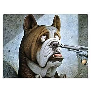 Interior Exterior frontal puerta baño mats Felpudo Humor Animal pared Retro perro pistola