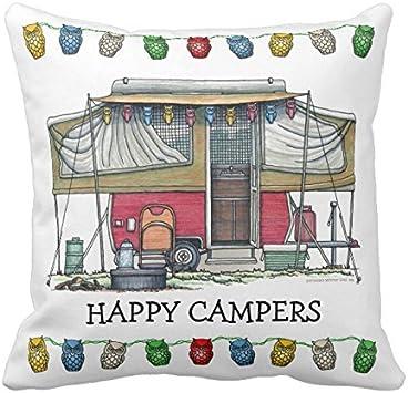 Amazon.com: uoopoo Cute Happy Camper Big RV Coach ...