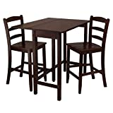 Winsome-Lynnwood-3-pc-Drop-Leaf-High-Table-with-2-Counter-Ladder-Back-Stool