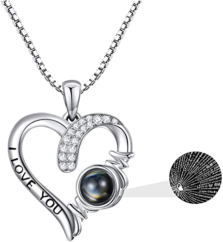 "I Love you /""Necklaces Women/'s 925 Sterling Silver"