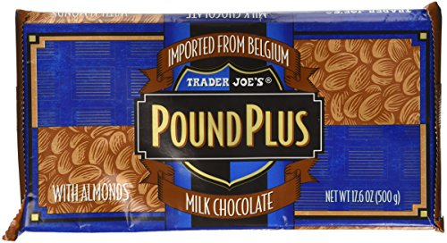Trader Joes Pound Plus Milk Chocolate with Almonds 17.6 oz.