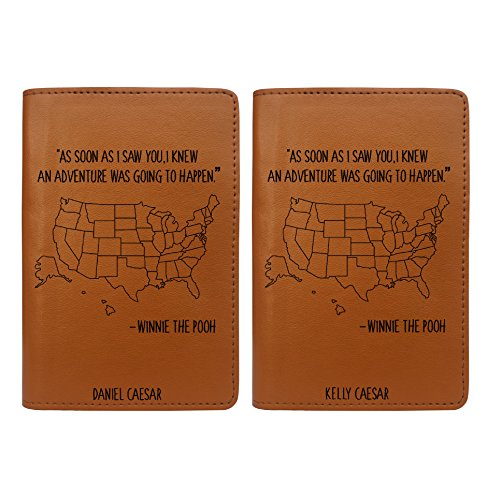 Winnie's Quote - Couple Passport Holder Personalized Passport Cover Set of 2 by With Love From Julie