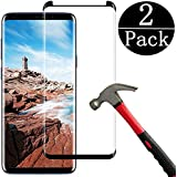 [Black] hairbowsales Compatible Galaxy S9 Plus Tempered Glass Screen Protector, [2 Pack] Half Screen[Case Friendly][Anti-Scratch][Anti-Fingerprint][Bubble Free] Compatible Galaxy S9 Plus