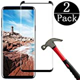EcoPestuGo Compatible (Black) for Galaxy S9 Plus Tempered Glass Screen Protector, EcoPestuGo [2 Pack][Half Screen] Case Friendly,Anti-Scratch,Anti-Fingerprint,Bubble Free Compatible S9 Plus