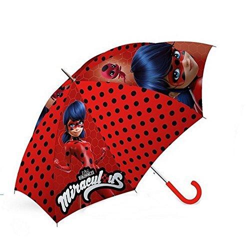 GUIZMAX Parapluie Miraculous Ladybug Disney Rouge