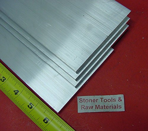 4 pieces 1/4″ X 5″ ALUMINUM 6061 FLAT BAR 6″ long T6511 .250″ Plate Mill Stock