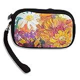 WCVRUT Unisex Clutch Wallet For Woman Ladies -Oil Painting Flowers Long Purse Bag Men Gentlemen