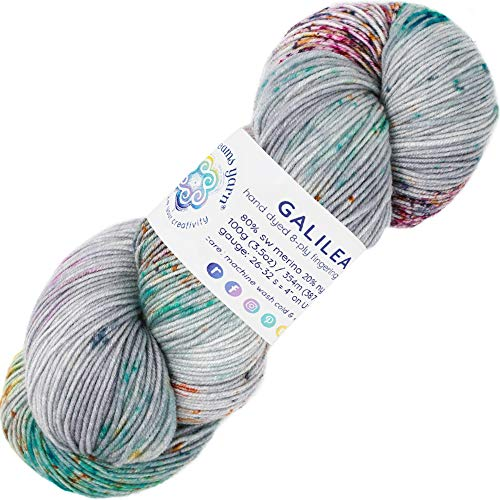 Living Dreams Yarn Galilea. Colorful Superwash Merino Sock Yarn. Super Soft and Strong. Hand Dyed to Perfection: Nebula