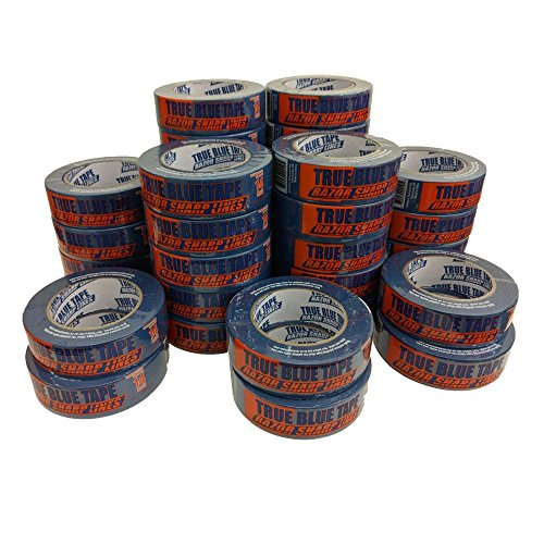 - True Blue Premium Blue Professional Painter's Masking Tape - Indoor and Outdoor Use - Commercial Grade - Available in 2 Widths - Works on a Variety of Surfaces (1.5 Inch, 36-Pack)