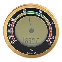Caliber 4R Gold Digital/Analog Hygrometer by Western Humidor
