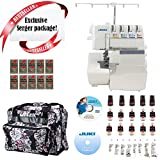 Juki MO-735 2-Needle, 2/3/4/5 Thread Serger w/ Limited time Serger Package!