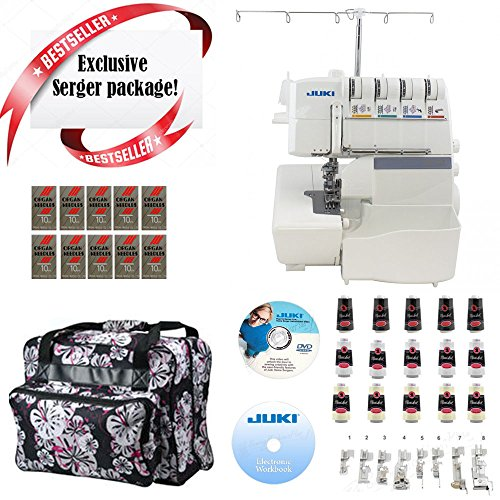 Juki Pearl Line MO-655 2/3/4/5 Thread Serger w/ Limited time Quilters Package!