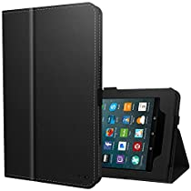 Ztotop Folio Case for All-New Amazon Fire 7 Tablet (7th Generation, 2017 Release) - Smart Cover Slim Folding Stand Case with Auto Wake / Sleep for Fire 7 Tablet, Black