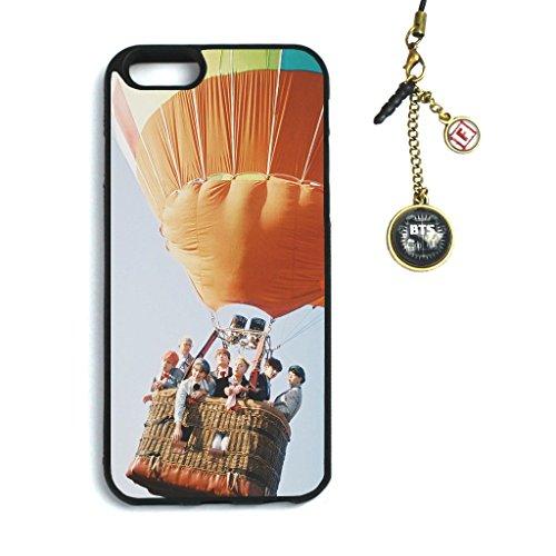 Fanstown Kpop BTS Bangtan Boys iPhone 6/6s case Young Forever + Dust Plug Charm (C01) (J Letter 6 Case Iphone)