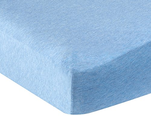 AmazonBasics Heather Jersey Fitted Sheet